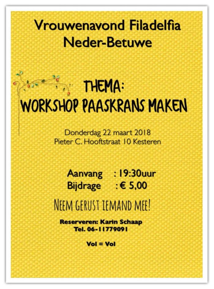 Workshop paaskrans maken